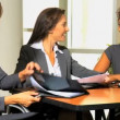 Businesswomen discussing about company strategy — Stock Video #51657091