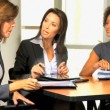 Businesswomen discussing about company strategy — Stock Video #51659111