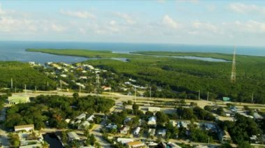 Aerial view exclusive residential properties nr US 1,   Florida — Stock Video