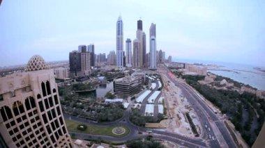 Skyscrapers in Dubai — Stock Video