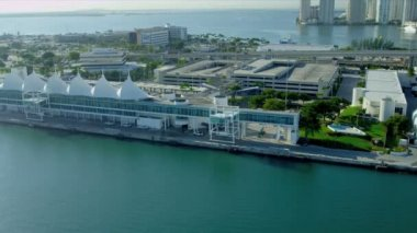 Aerial view Cruise Ship Terminal, Miami — Video Stock