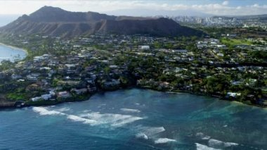 Aerial view of Diamond Head, Hawaii — Stock Video