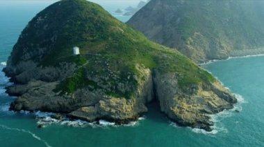 Aerial View Coastal Islands nr Hong Kong — Stock Video