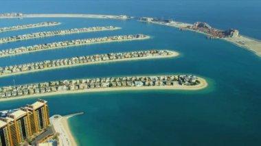 Aerial view of Palm Jumeirah Dubai — Stock Video