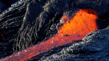 Molten Lava Creating Wilderness Landscape — Stock Video
