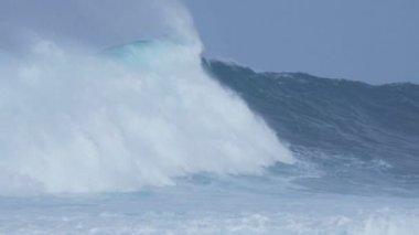 Big sea waves — Stock Video