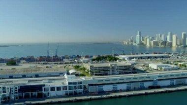 Cruise Ship Terminal Miami City — Stock Video