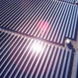 Aerial view Solar Panels producing energy — Stock Video #51682473