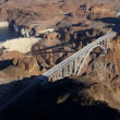 Aerial view Hoover Dam Colorado River Bridge — Stock Video #51682697