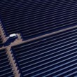 Aerial view Solar Panels producing energy — Stock Video #51683613