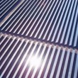 Aerial view Solar Panels producing energy — Stock Video #51684723