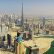 Aerial view Burj Khalifa Dubai Creek Dubai — Stock Video #51686019