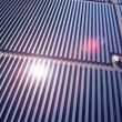 Aerial view Solar Panels producing energy — Stock Video #51686913