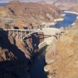 Aerial view Hoover Dam Colorado River Bridge — Stock Video #51688807