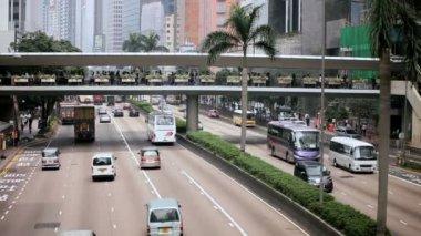 Silniční provoz v hong kongu — Stock video