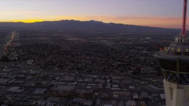 Aerial view Las Vegas — Stock Video