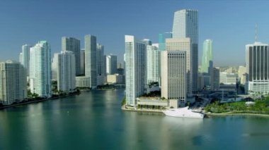 Downtown Miami City Financial District — Stock Video