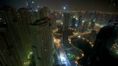 Jumeirah illuminated at night — Stock Video