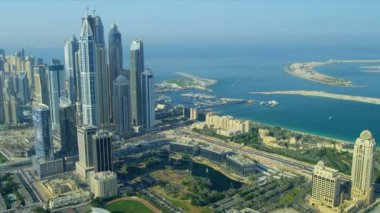 Aerial view of Media City Dubai — Stock Video