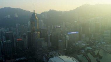 Hong Kong Island and Victoria Peak — 图库视频影像