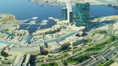 Aerial view Festival City, Dubai — Stock Video