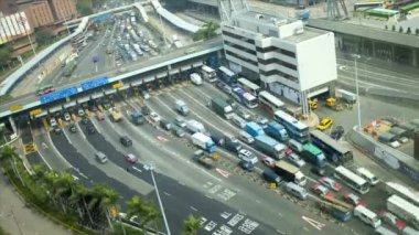 Vehicles Kowloon Toll road — Stockvideo