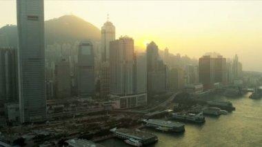 Aerial View of Hong Kong Island, China — Stock Video