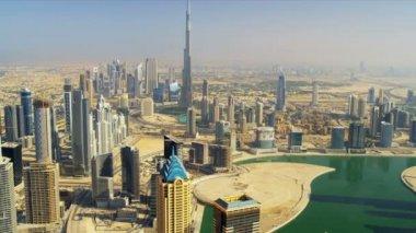 Aerial Burj Khalifa Dubai Creek in Dubai anzeigen — Stockvideo