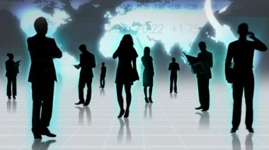 Professional people using wireless technology — Stock Video