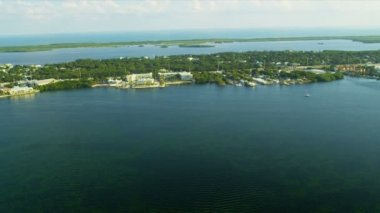 Aerial view North Key Largo nr Miami, USA — Stock Video