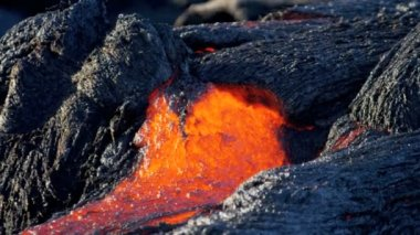 Molten Lava Creating Wilderness Landscape — Stock Video