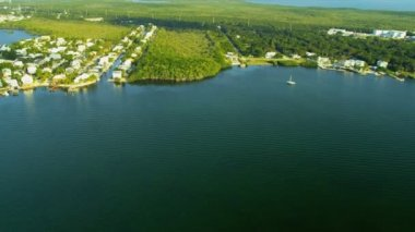 Aerial view North Key Largo nr Miami, USA — ストックビデオ