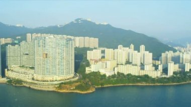 Aerial View of Condominiums Hong Kong Island — Stock Video