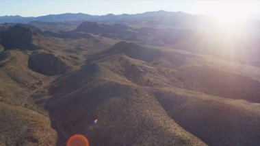 Aerial view extreme mountain terrain near Las Vegas — Stock Video