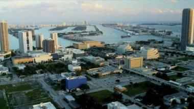 Miami, florida havadan görünümü — Stok video