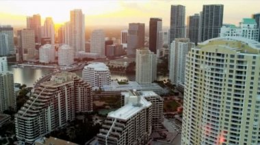 Aerial view of Miami, Florida — Stock Video