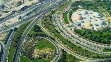 Aerial view Zabeel entertainment park, Dubai — Video Stock