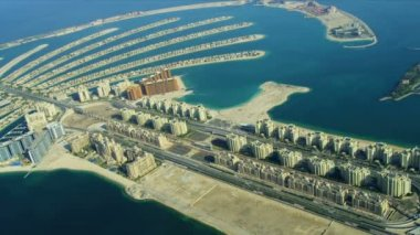 Aerial Golden Mile, Palm Jumeirah, Dubai — Stock Video