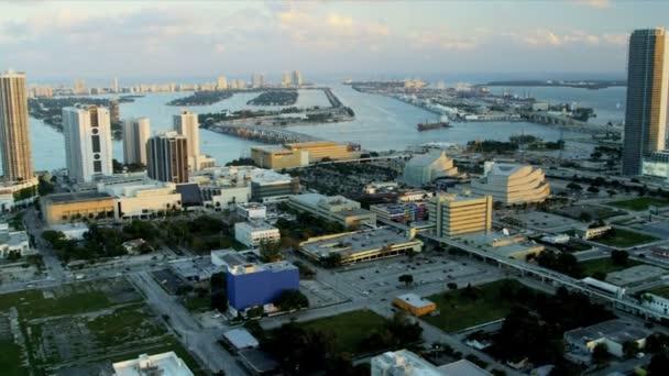 Vista aérea de miami, florida — Vídeo de stock
