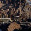 Aerial view Hoover Dam Bypass Project on US 93 — Stock Video #51691611