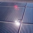 Aerial view Solar Panels producing energy — Stock Video #51693575