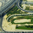Aerial view desert expressway interchange  Dubai — Stock Video #51696623