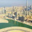 Aerial view Burj Khalifa Dubai Creek Dubai — Stock Video #51697243