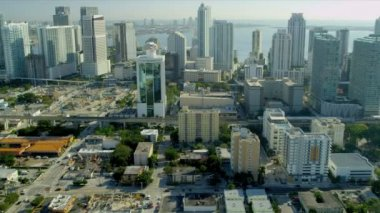 Downtown Miami and Financial District — Vídeo Stock