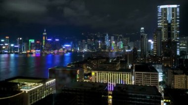 Victoria Harbour and exterior buildings — Stock Video