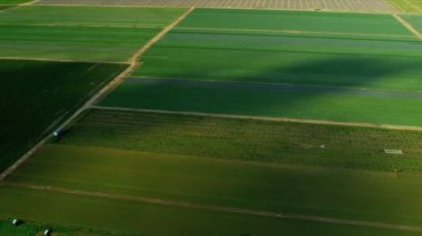 Aerial view agricultural farming land Southern Florida — Stockvideo