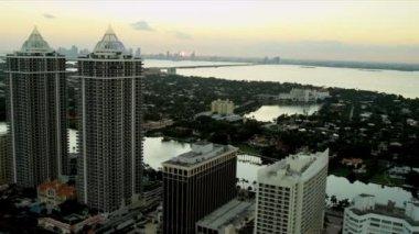 Letecký pohled na miami, florida — Stock video