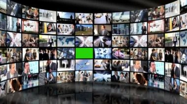 Montage 3D video wall images — Stock Video