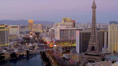 Лас-Вегас на закате — Стоковое видео