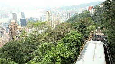 Funicular railway in Hong Kong — Stock Video